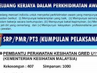 Jawatan Kosong di Kementerian Kesihatan Malaysia KKM - 1,407 Kekosongan Segera