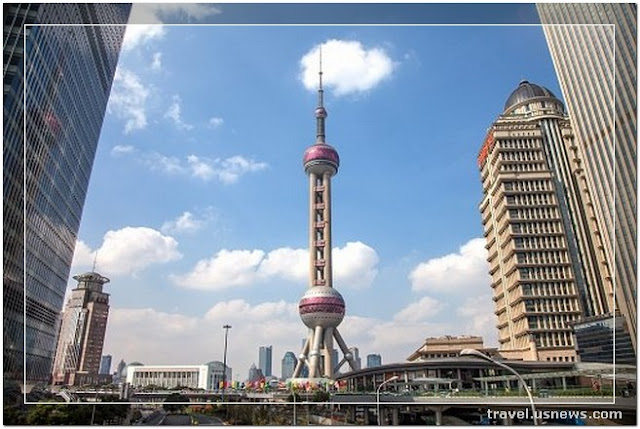 Oriental Pearl TV Tower  - Top 7 Best Places to Travel in Shanghai, China at Least Once in Your Life Time