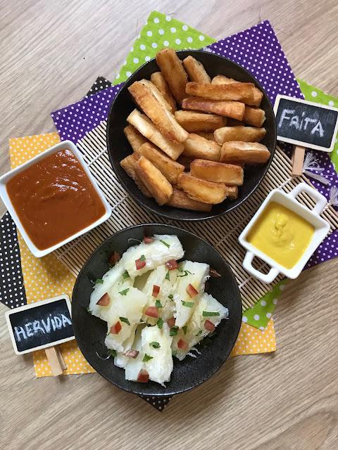 yuca hervida y yuca frita receta