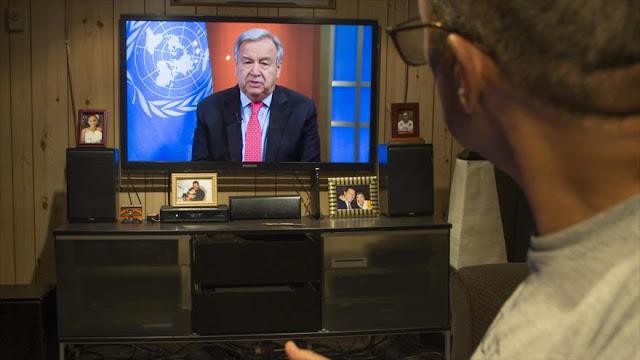 ONU pide alto el fuego en todo el mundo para combatir el COVID-19