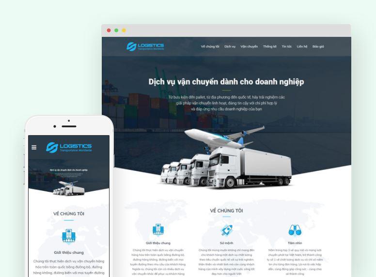 Theme bán hàng phù hợp với website dành cho đơn vị vận chuyển, bất động sản, du lịch