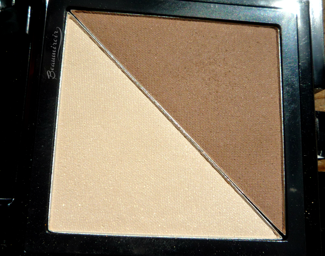 Review, photos and swatches of new NYX Cheek Contour Duo palette in Double Date, a medium brown contour shade and an ivory highlighter!