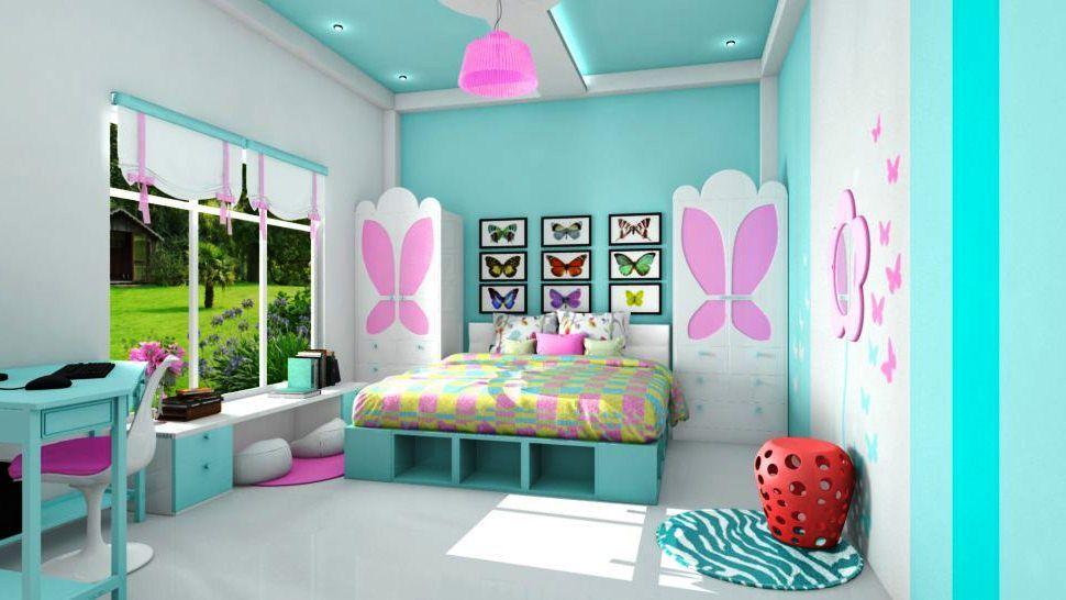 Kombinasi Warna Cat R Tidur Anak Perempuan