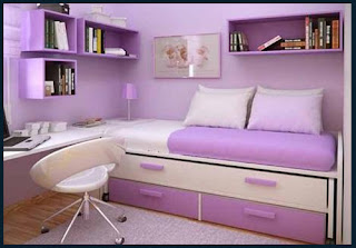 Dalam Gambar Di Atas Menunjukkan Tirai Pada Hiasan Bilik Tidur Yang Sempit Mempunyai Warna Sama Seperti Dinding Itu Ia Bertujuan Untuk