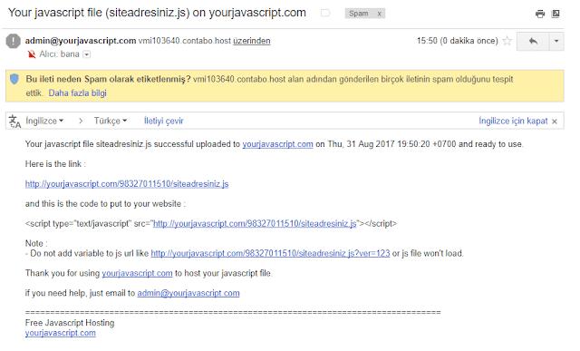 yourjavascript onay maili
