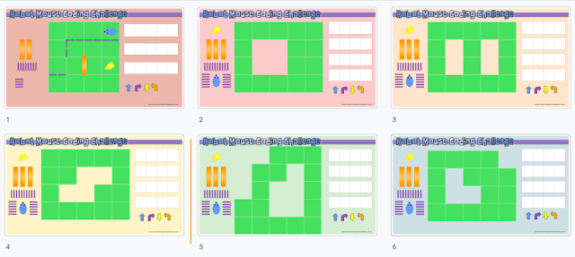 Robot Mouse Coding Challenge - Google Slides Template for Unplugged Coding