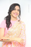 Actress Ritu Varma Pos in Beautiful Pink Anarkali Dress at at Keshava Movie Interview .COM 0345.JPG