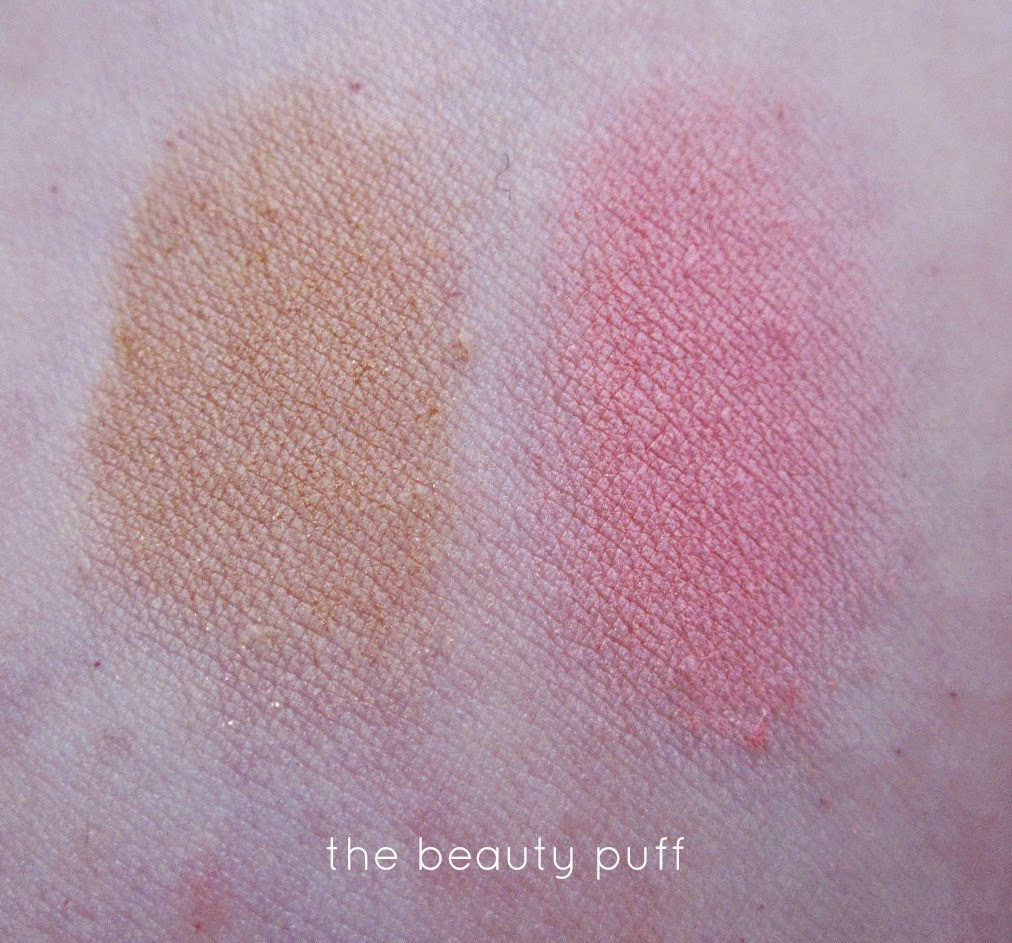 physicians formula super bb bronzer & blush swatch - the beauty puff