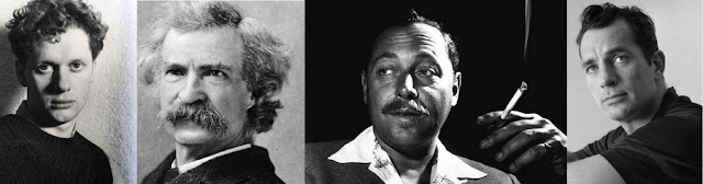 Hóspedes famosos do Chelsea Hotel, em Nova York: Dylan Thomas, Mark Twain, Tennessee Williams e Jack Kerouak