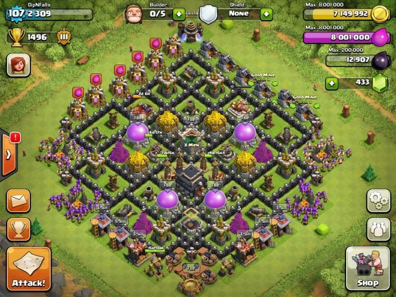 clash of clans rathaus level 9