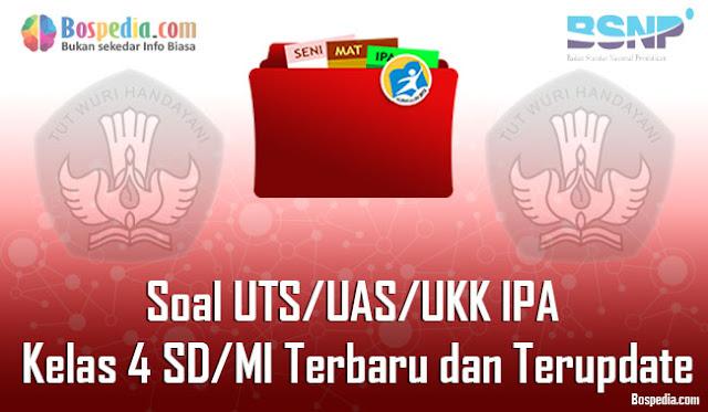 Soal UTS/UAS/UKK IPA Kelas 4 SD/MI Terbaru dan Terupdate