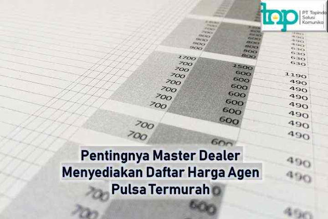 Digital Pulsa Komunika, Pentingnya Master Dealer Menyediakan Daftar Harga Agen Pulsa Termurah