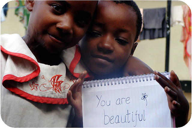 You are beautiful - children at Matumaini Dar es Salaam Tanzania