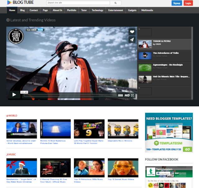 BlogTube Video Blogger Template