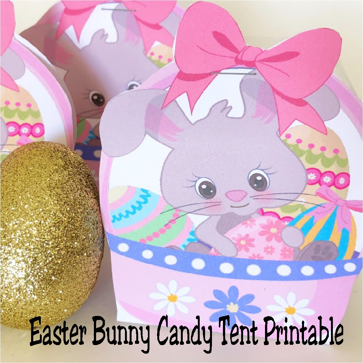 Easy and cute easter basket printable candy tent everyday parties they are the perfect easy and cute party favor for negle Gallery