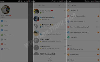 BBM Mod Tema MIUI 7 Style v2.9.0.51 Apk