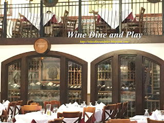 The wine cellar at the Columbia Restaurant in Tampa, Florida with over 300 bottle selections to choose from