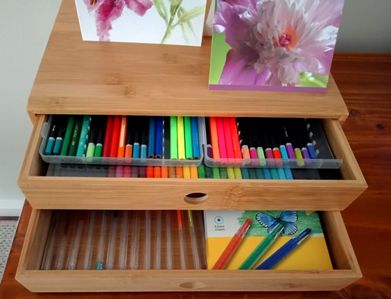 Perfect drawers for color pencils, pens, crayons - KMart