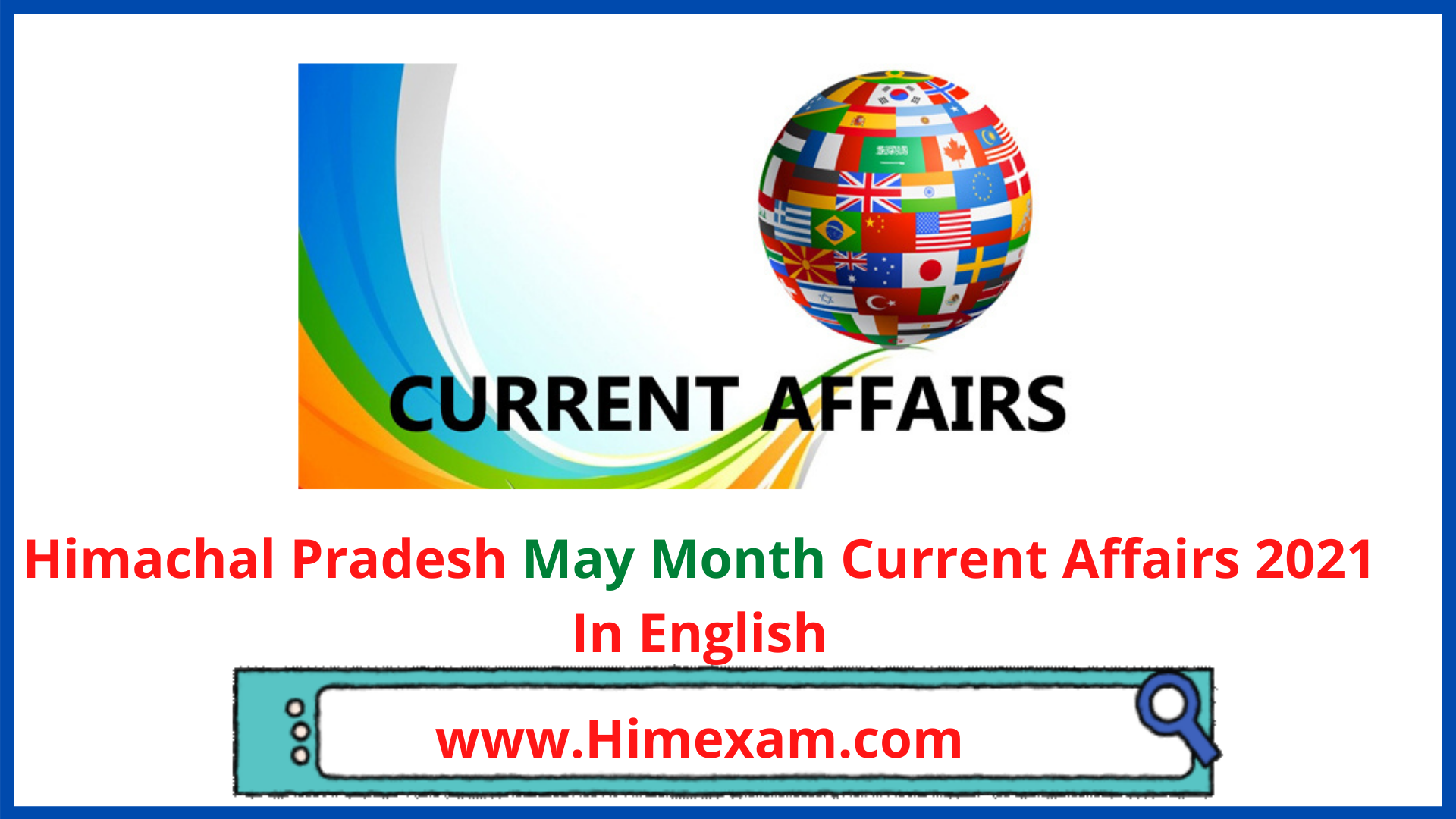 Himachal Pradesh May Month Current Affairs 2021 In English