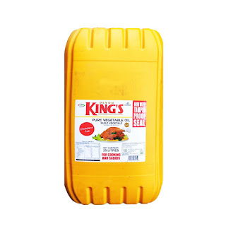 Kings Pure Vegetable Oil is a Devon King's cooking oil