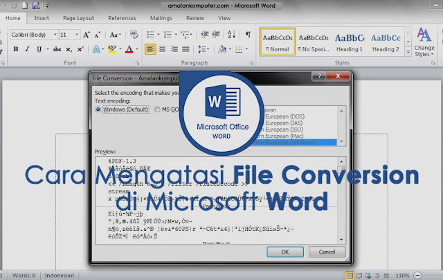 cara mengatasi file conversion Microsoft Word
