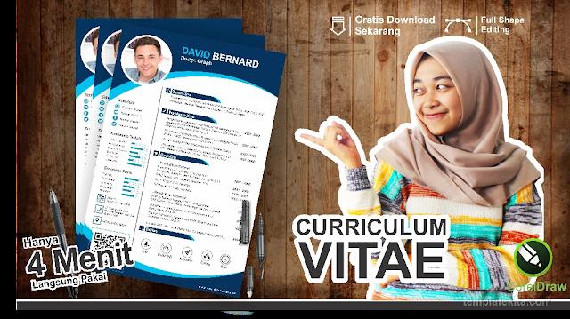 Download Contoh Curriculum Vitae CDR Coreldraw