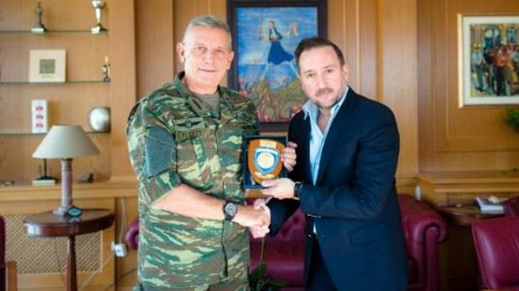 Επίσκεψη του Διοικητή της 1ης Στρατιάς Αντιστράτηγου Κ. Φλώρου στον Δήμαρχο Αλεξανδρούπολης