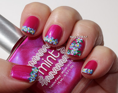 Marias Nail Art And Polish Blog Flowers For Dirty Shirley