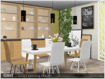 Эко стиль — наборы мебели и декора для Sims 4 со ссылками для скачивания