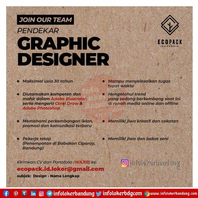 Lowongan Kerja Graphic Designer Ecopack Indonesia Bandung Maret 2021