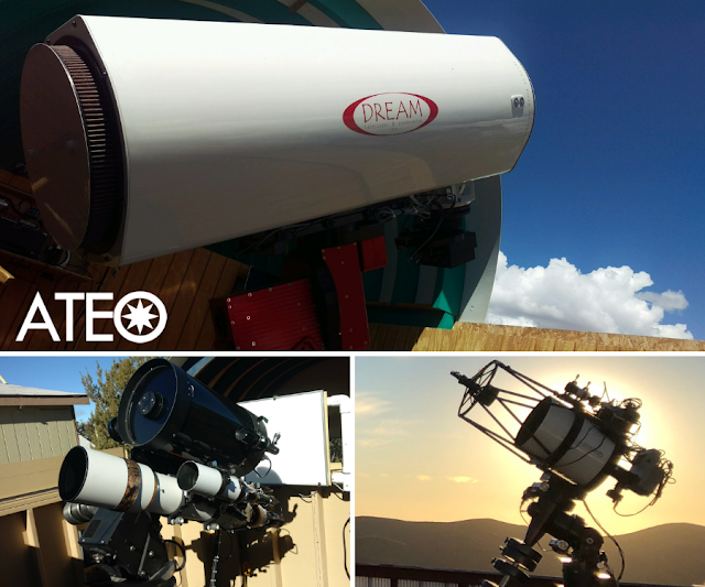 Astronomical Telescopes for Educational Outreach ATEO-1, ATEO-2A and ATEO-2B and ATEO-3.
