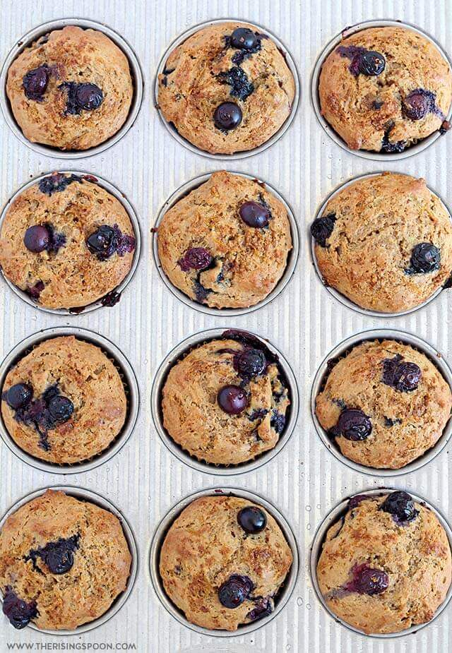 Moist Blueberry Muffins with Sour Cream & Lemon Zest