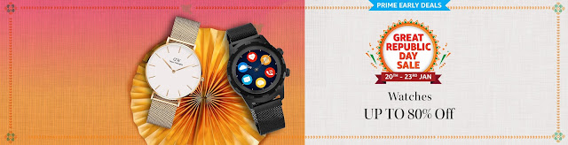 Offer : Get upto 80% off on Watches