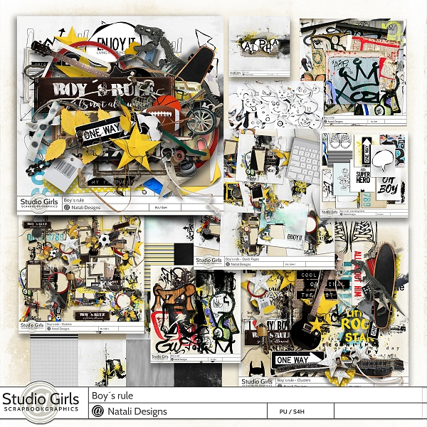 http://shop.scrapbookgraphics.com/Boy-s-rule-All-in-One.html