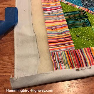 Preparing the quilt edge for quitling