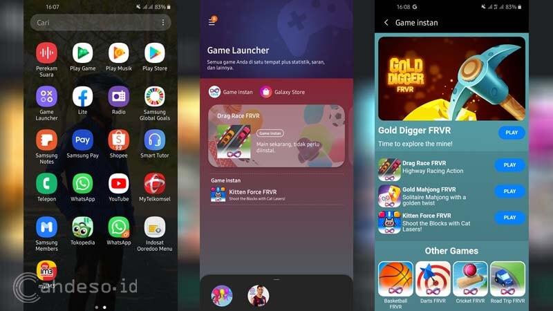 Game Instan di Game Launcher Samsung