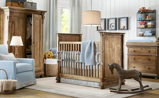 cuarto bebé celeste marrón