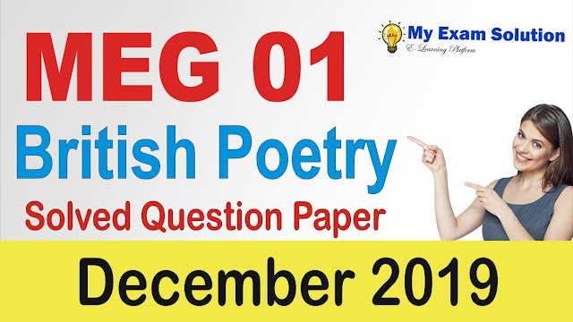 meg 01 british poetry, british poetry previous year papers, previous year papers meg 01, meg british poetry