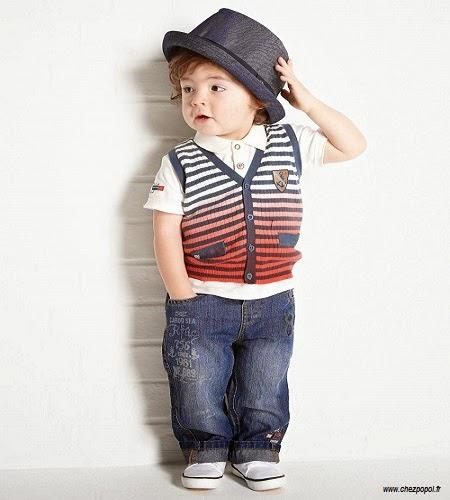 Un beau bébé garçon style