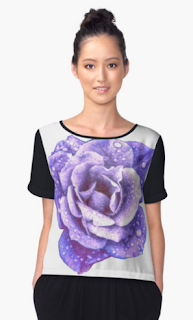 Purple rose chiffon top