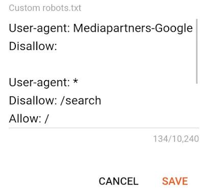 Blogger settings Custom Robots.txt File - Create Robots.txt - Blog Setting Me Custom Robots.txt Add Kare - web robots.txt full tutorial