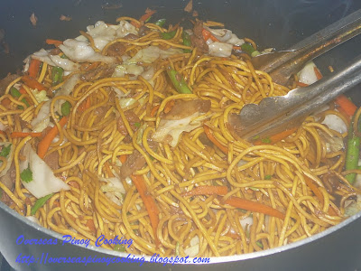 Pansit Canton Guisado - Cooking Procedure