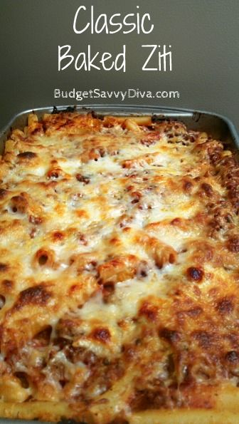 Classic Baked Ziti #recipes #pastarecipes #easypastarecipes #food #foodporn #healthy #yummy #instafood #foodie #delicious #dinner #breakfast #dessert #lunch #vegan #cake #eatclean #homemade #diet #healthyfood #cleaneating #foodstagram