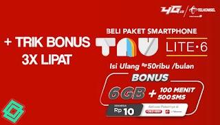 Cara Mendapatkan Paket Telkomsel 6GB Cuma 10 Rupiah + Bonus 3x Lipat