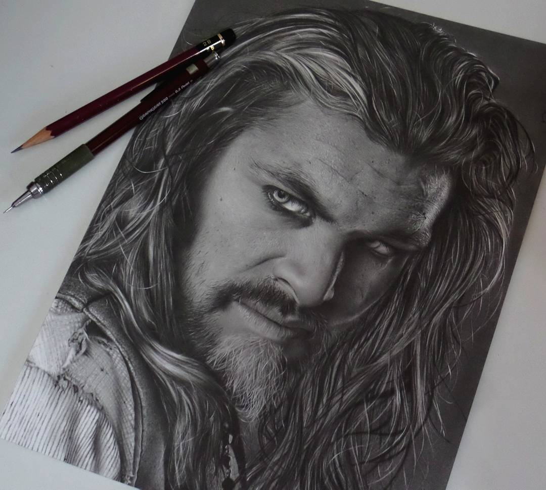 06-Jason-Momoa-Khal-Drogo-Game-of-Thrones-Fabio-Rangel-Drawings-of-Protagonists-from-TV-and-Movies-www-designstack-co