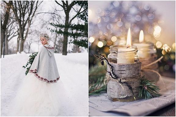 Zimowe wesele, ślub zimową porą, dekoracje zimowe na ślub, ślub w bieli, ślub międzynarodowy, ślub i wesele skandynawskie