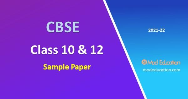 CBSE Class 10 Sample Paper 2021-22 pdf Download