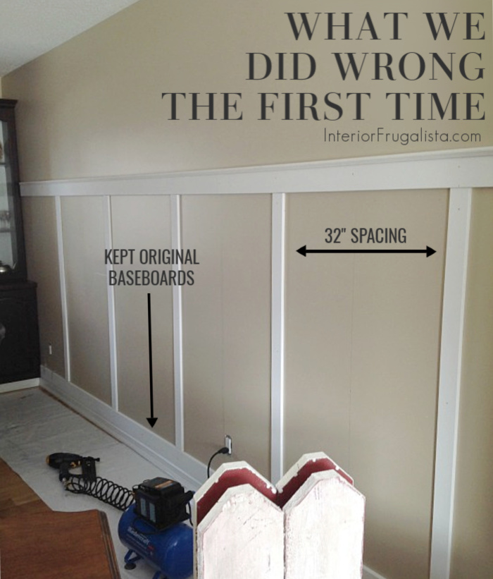 Board And Batten Wall WITH Baseboards