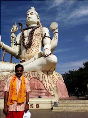 Dr Rajith Kumar in Shiva Temple