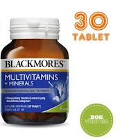 Blackmores Multivitamins + Minerals BPOM Kalbe - 30 tablet